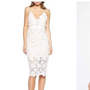 White Strap V-Neck Dress
